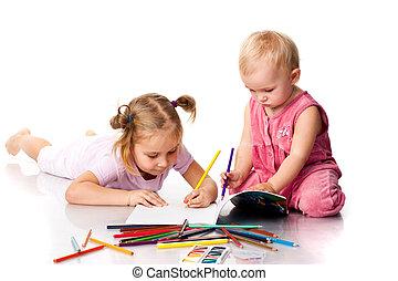 ילדים, ציור