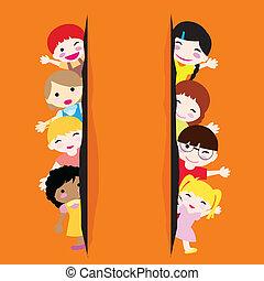 ילדים, רקע, שמח