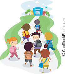 ילדים של בית הספר