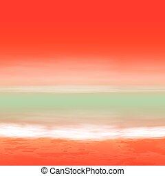 ים, sunset., טרופי, קיץ, רקע.