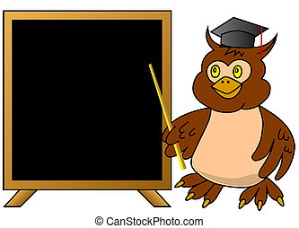 ינשוף, חכם, מורה, לוח