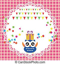 ינשוף, מפלגה של יום ההולדת, כרטיס, חמוד