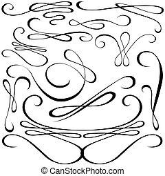 יסודות, עצב, calligraphic