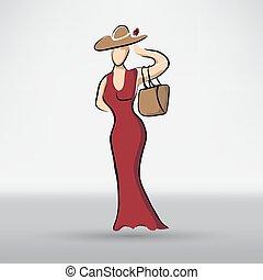 יפה, דמות, אישה