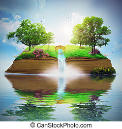 יפה, הזמן, גן