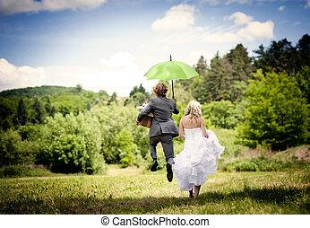 יפה, זוג של חתונה