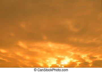 יפה, עננים, הרבה, שמיים, בוקר, עלית שמש
