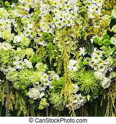 יפה, פרחים, קטע, רקע, חתונה