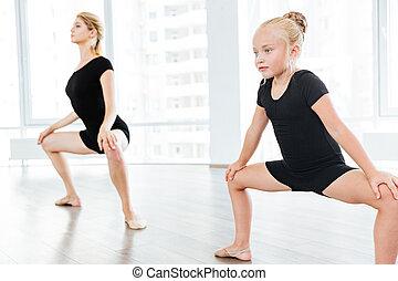 יפה, קטן, שלה, לרקוד, רקדן, אולפן, מורה