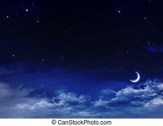 יפה, רקע, nightly, שמיים