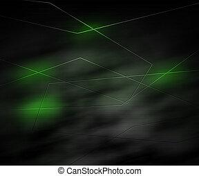 ירוק כהה, תקציר, טק, רקע