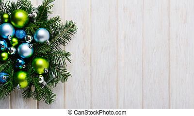 ירוק כחול, רקע, קישוטים, חג המולד