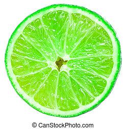ירוק, לימונית, פרי, פרוס