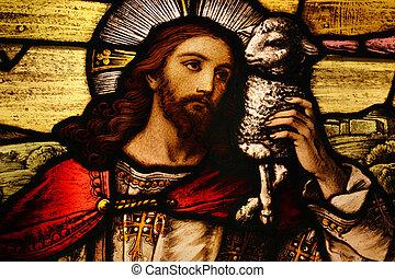 ישו, עם, כבש