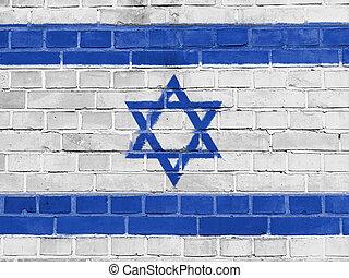 ישראל, קיר, דגל ישראלי, פוליטיקה, concept: