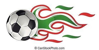 כדור, איטלקי, כדורגל, פטר, דגל מקסיקני