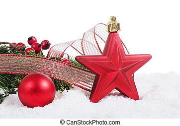 כדור, עץ, השלג, חג המולד