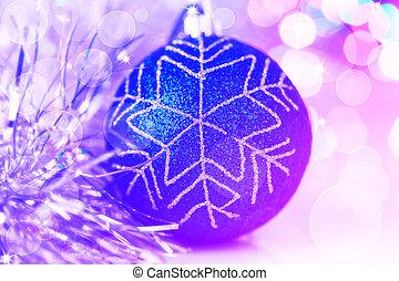 כדור, צבעוני, שנה, אורות, bokeh, רקע, חדש, חג המולד
