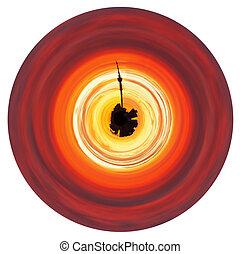 כוכב לכת, עלית שמש, קטן, צהוב אדום