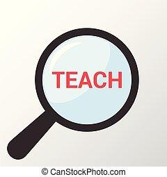 כוס, אופטי, מילים, למד, חינוך, להגדיל, concept: