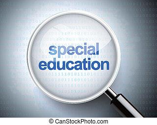 כוס, מיוחד, חינוך, להגדיל, מילים