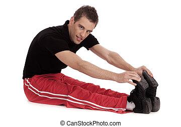 כושר גופני, קטעים, שלו, גברים, רגל