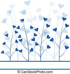 כחול, אהוב מופשט, יער, רקע