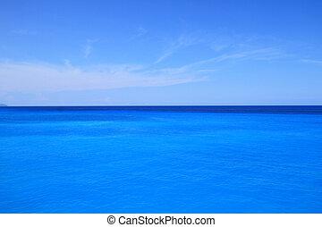 כחול, אופק, שמיים, רקע, ים