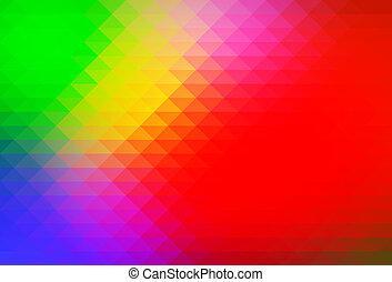 כחול ירוק, תפוז, אדום, שורות, של, משולשים, רקע