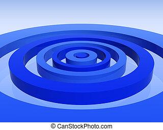 כחול, כוון