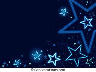 כחול, כוכבים, רקע