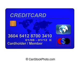 כחול, כרטיס אשראי
