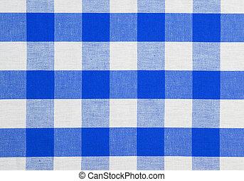 כחול, מפת שולחן, בדוק, מארג