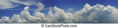 כחול, עננים, שמיים, פנורמה