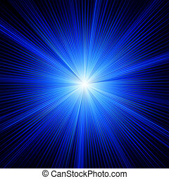 כחול, צבע מעצב, עם, a, burst., הכנסה לכל מניה, 8