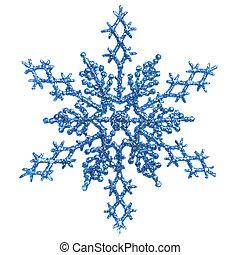 כחול, קישוט, snowlfake, חג המולד