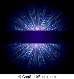 כחול, קרן, אור