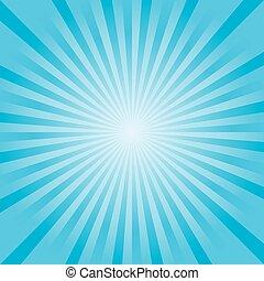 כחול, קרנות, אור, תקציר, רקע., וקטור, רך