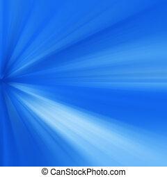 כחול, קרנות של אור