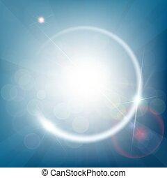 כחול, קרנות, תקציר, light., bokeh, רקע