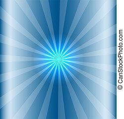 כחול, שמש, שמיים מוארים, קרן