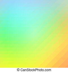 כחול, תפוז, ירוק, שורות, של, משולשים, רקע, ריבוע
