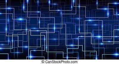 כחול, תקציר, סייבר, רקע