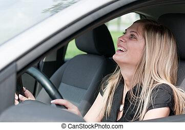 כיף, במכונית