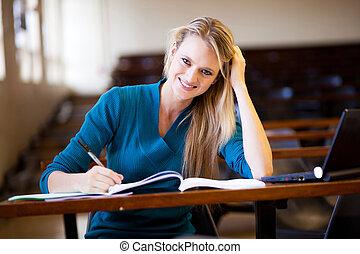 כיתה, שמח, סטודנט של קולג', לשבת