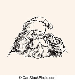 כלאאס, דוגמה, וקטור, סנטה, דמות, לחייך
