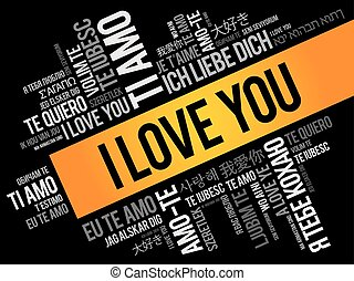 """כל, אהוב, """"i, you"""", שפות, עולם"""