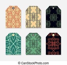 כנה, 6, קבע, pattern., גיאומטרי, בגדים