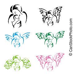 כנף, מלאך, אמא
