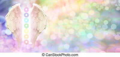כנפיים, צ'אקראס, מלאך, שבעה